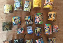 Summer collection 2015 / These cuffs were inspired by recent trips to Paris and Italy,