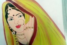 LADY PAINTINGS / MY PAINTING WORKS