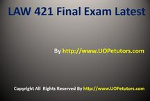 LAW 421 Final Exam