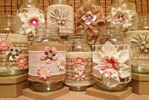 Botellas y latas decoradas