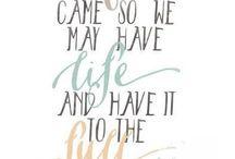 Believe / Elämä on lahja , jonka Jumala on lahjoittanut.