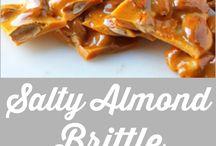 Salty almond brittle