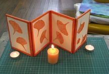 Shadow Lanterns / The shadow lantern is a project I developed for my book, Paper Illuminated. I teach the structure often in classes and workshops. Here you see a few of my own works and a variety of student work.