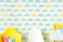kids room with wallpaper