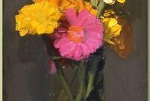 květiny malované