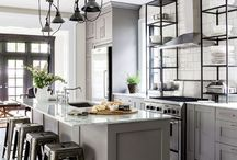 Bistro Industrial Functional 1950-s inspired Kitchen Designs