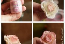 Цветы из глины и фарфора