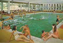 "Kutsher's Postcards / ""Welcome to Kutsher's"" is a documentary about the Last Catskills Resort. Now on DVD & Digital: www.kutshersdoc.com/buy-the-film. Info: kutshersdoc@gmail.com. This board has pins of the resort's postcards (most courtesy Mark Kutsher)."