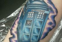 TARDIS foot tattoo