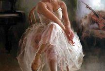 Pinturas de bailarinas / by Carmen Banck
