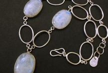 Moonstone Pendant Necklace / Handmade moonstone pendant necklaces, one of a kind and customizable