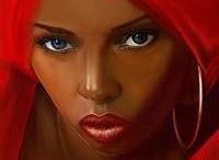 Foulard rouge africain