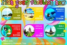 DOMESTIC SERIES / Rencanakan liburanmu, catet tanggal berangkatnya, hungungi kita di 0213907576 :)