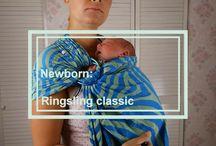 baby wearing ringsling