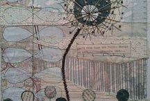 pannelli carta stoffa collage