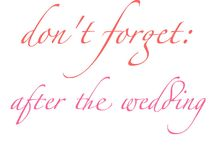 Important things to remember for the wedding