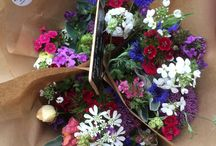 Seasonal Bunches  / Our home grown flowers, bunched for sale.