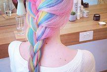 ⋆。˚✩ rainbow hair/pastel unicorn ⋆。˚✩