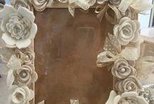 cornici con fiori feltro