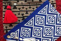 Crochet tapestry táskák
