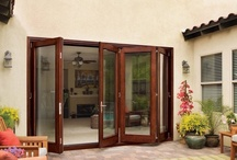 Bifold Doors / Bifold doors are doors that come in two or more parts hinged together to fold open. Popular for closet doors in many homes, the bifold door is also used for exterior glass doors that let in the view. Closet doors come either louvered or paneled and in differing single and double configurations. #doornmore #interior door #beautiful