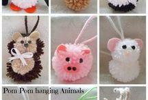animales con pompom