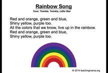 Rainbow lesson board