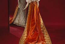 Empire style court dress