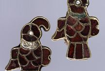 "History - 2. Jewellery (Dark Ages) / Western Europe in the ""Dark Ages"" - roughly the fall of Rome (5thC) until about the 11thC, so Angle, Saxons, Jutes, Vikings but NOT Rus. Jewellery and accessories. Archaeological evidence. / by Emy Magpie"