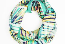 Silk Scarves / Silk scarves designed by Claudia Owen http://claudiaowen.com/