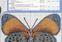 buttyrfly-cross stich-motyle