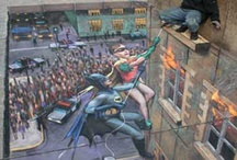 Sidewalk Art / I've been to a sidewalk art festival in Orlando - it blew my mind - I love this stuff.  The artists use colored chalk - art pastels to create these incredible designs. You have to have such a sense of perspective to do a great one.