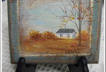 Peinture sur bois / Peindre le bois est très agréable