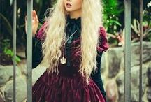 Dark gothic Lolita outfits / Dark colors, scared lolita, punk, goticha, hard rock