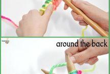 teach knitting to kida