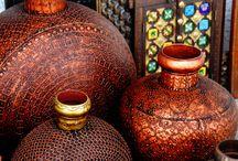 brown, gold & copper