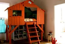 Home Decor: Built-in Playhouses for Boys / Boy's room with indoor playhouse