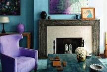purple & green interiors / by Magdalena KS