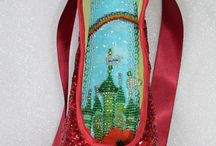 Decorated pointeshoes