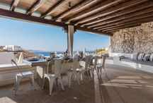 OUTDOOR DINING - GREEK ISLAND HOUSES