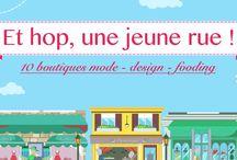 Restaurant éphémère / Vous connaissez La Jeune Rue ? HopShop réveille une dizaine de commerces dans cette rue. Le principe : du 4 au 18 juillet une dizaine de start-up ouvrent leur pop-up store ! On est de la partie et on compte bien TOUT vous montrer