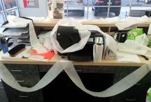 Pixy Strikes Again...The Elf on the Shelf / So this is what Pixy did to the manager's desk on his day off. #HamptonToyota #TheElfOnTheShelf #FunAtTheWorkplace 12/10/2014