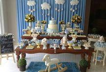 decoração para Baby chá de menino