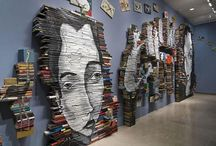 Books as Art / Using books to create clever, fun, funky art