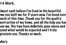 New Home Construction Testimonials
