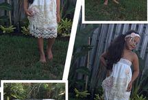 Little Ladies / Girls Fashion, Children's Wear, Kids Fashion, Princess Outfits, Vintage Lace, Boho Style, Beach Style, Christening, Baptism, Baby Dedication, Boho Baby, Boho Kids