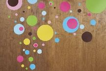 Crazy For Dots Wall Decals / Create an amazing look for any room in the house with these adorable easy to use wall decals from wallstickeroutlet.com
