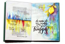 Art Journal Pages / Our members' beautiful art journal work.