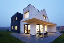 BLACK and WHITE House / Contemporary house in Krakow, Poland.