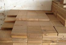pavimenti in legno / realizzazione pavimenti con legni di recupero: rovere, teak, ...
